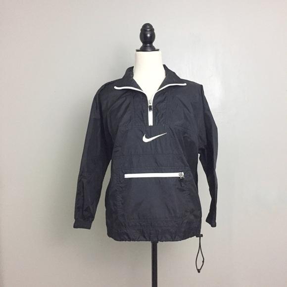 Nike Air Black Vintage 90's Half Zip Windbreaker
